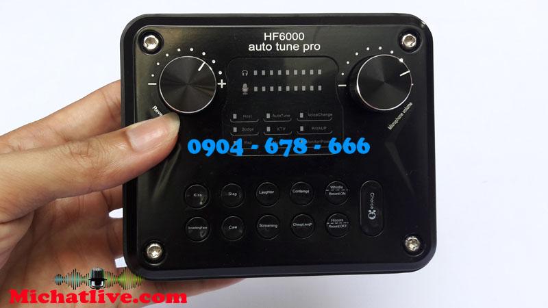 SOUND CARD HF6000 PRO HÁT KARAOKE - SOUNDCARD AUTOTUN