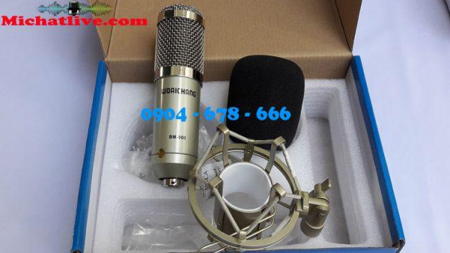 Bộ hát live stream Sound Card V8 - Míc BM900 ( ảnh 1 )