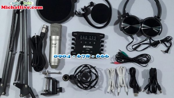 Combo Sound Card K10S ( K10-2018 ) với míc ISK-AT100