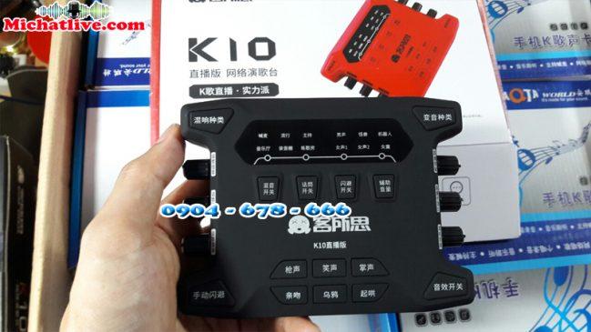 Sound card âm live stream XOX K10 2018 ( ảnh 1 )