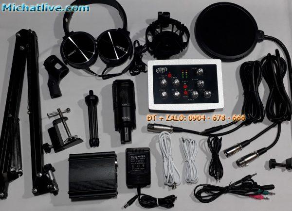 Combo Sound Card HF5000 Pro Míc PC K320
