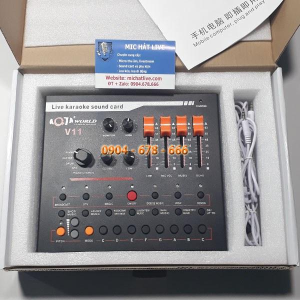 Nguyên hộp Sound card V11