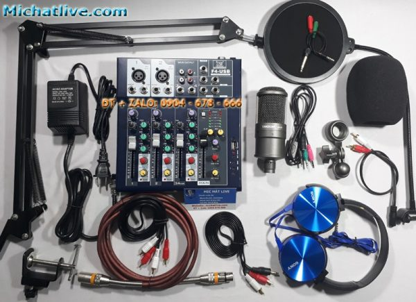 Bộ livestream Mixer f4 micro SM-8B