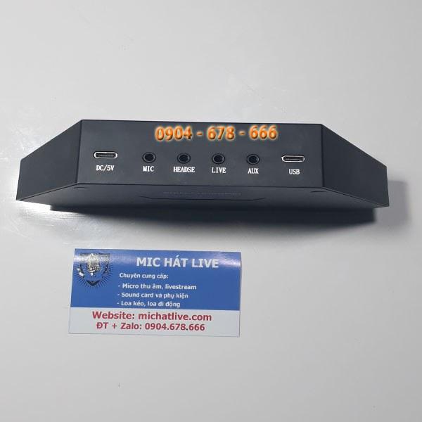 Cổng kết nối Sound Card livestream Max 730