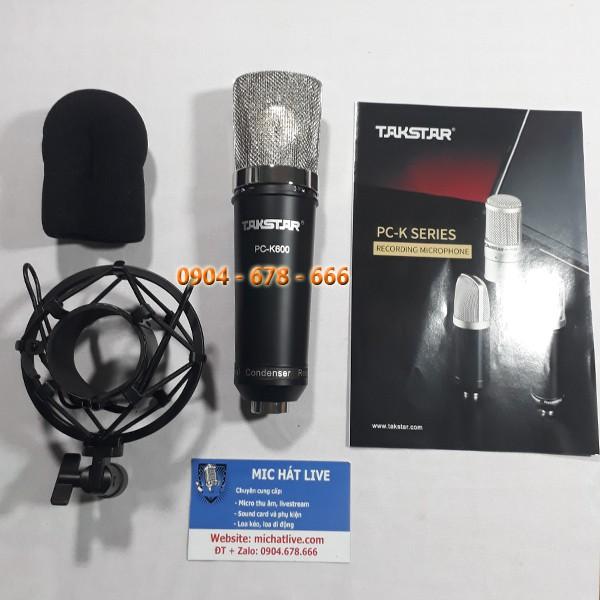 Combo micro thu âm K600