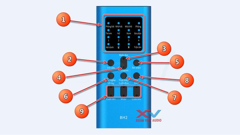 Sử dụng chức năng sound card BH2