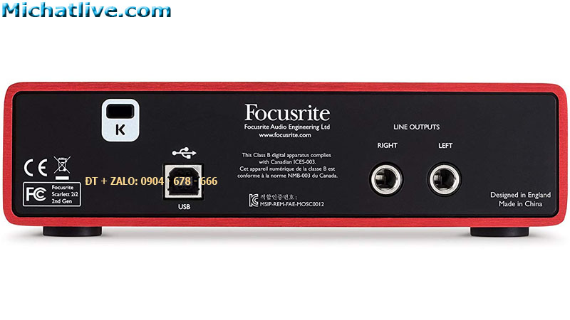 kết nối sound card Focusrite Scarlett 2i2