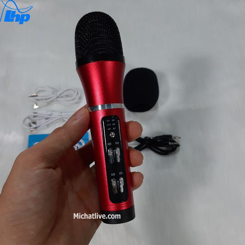 Micro livestream giá rẻ C25 màu đỏ