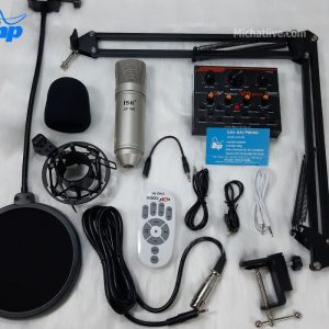Bộ Sound card live stream V9 Plus micro AT100