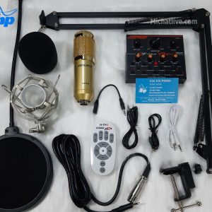 Bộ Sound card live stream V9 Plus micro Bm900