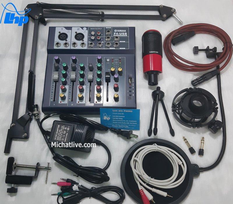 Bộ micro livestream Mixer F4 micro K320