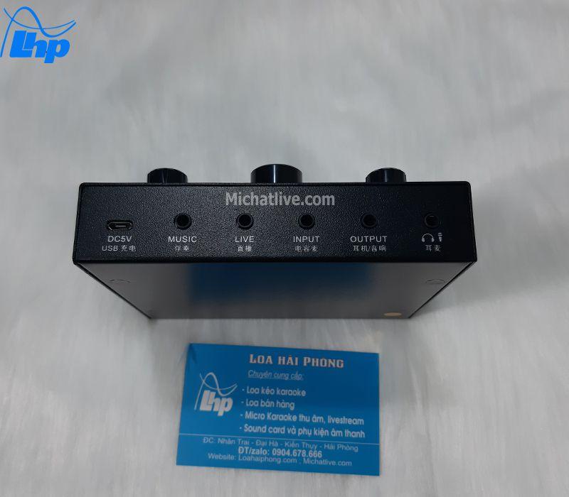 Các cổng kết nối sound card V9 Plus