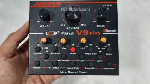 Sound card live V9 Plus