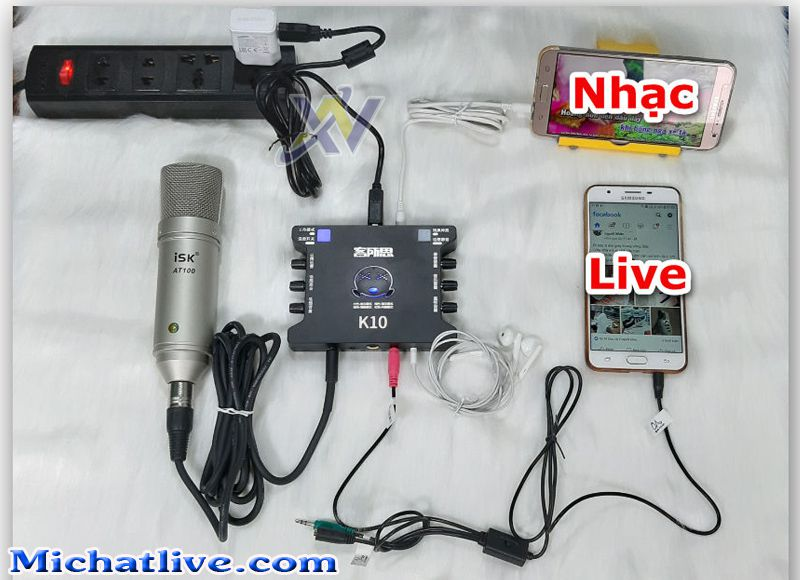 cách lắp bộ livestream k10