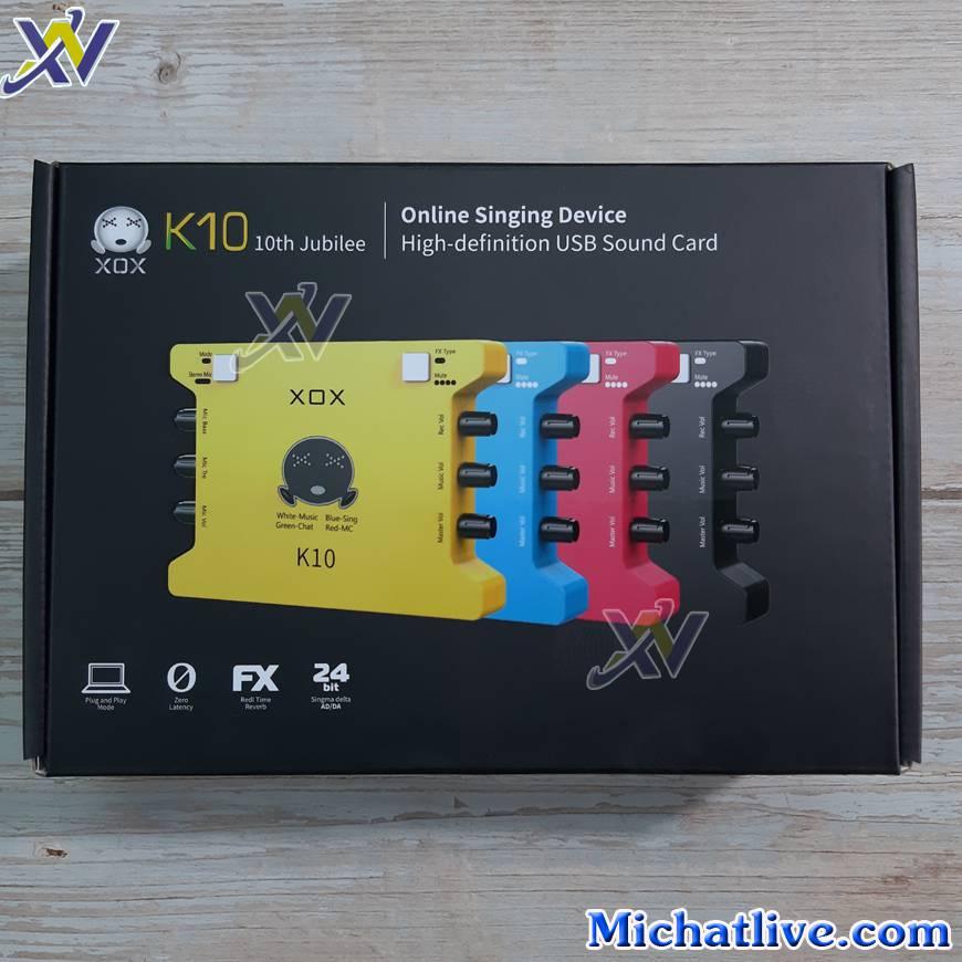 Sound card XOX K10 2020 có 4 màu