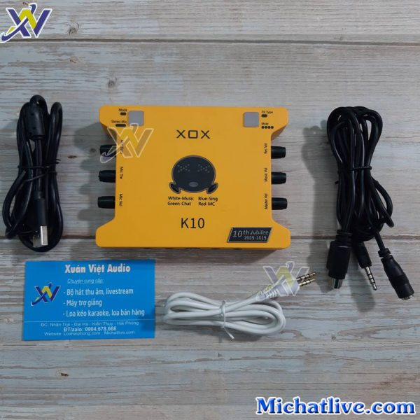 Sound card XOX K10 2020 và phụ kiện
