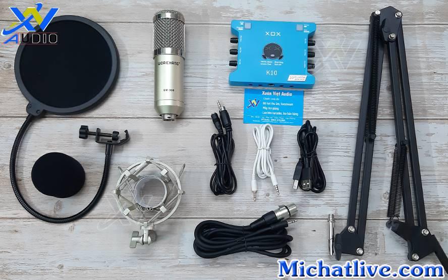 Bộ livestream k10 2020 micro bm900