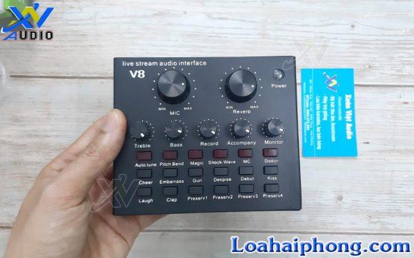 sound card livestream v8