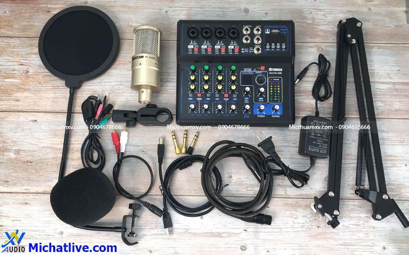 Bộ livestream Mixer Max 99 mic PC K200