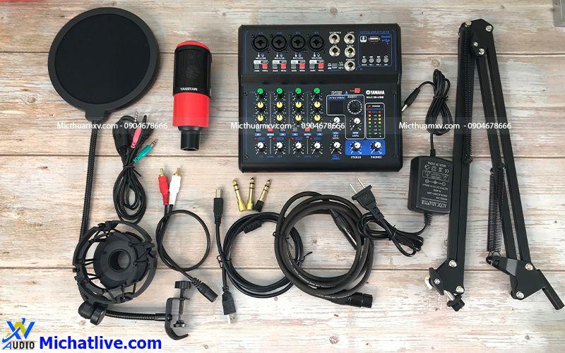 Bộ livestream Mixer Max 99 mic PC K320
