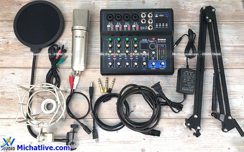 Bộ livestream Mixer Max 99 mic Max 79